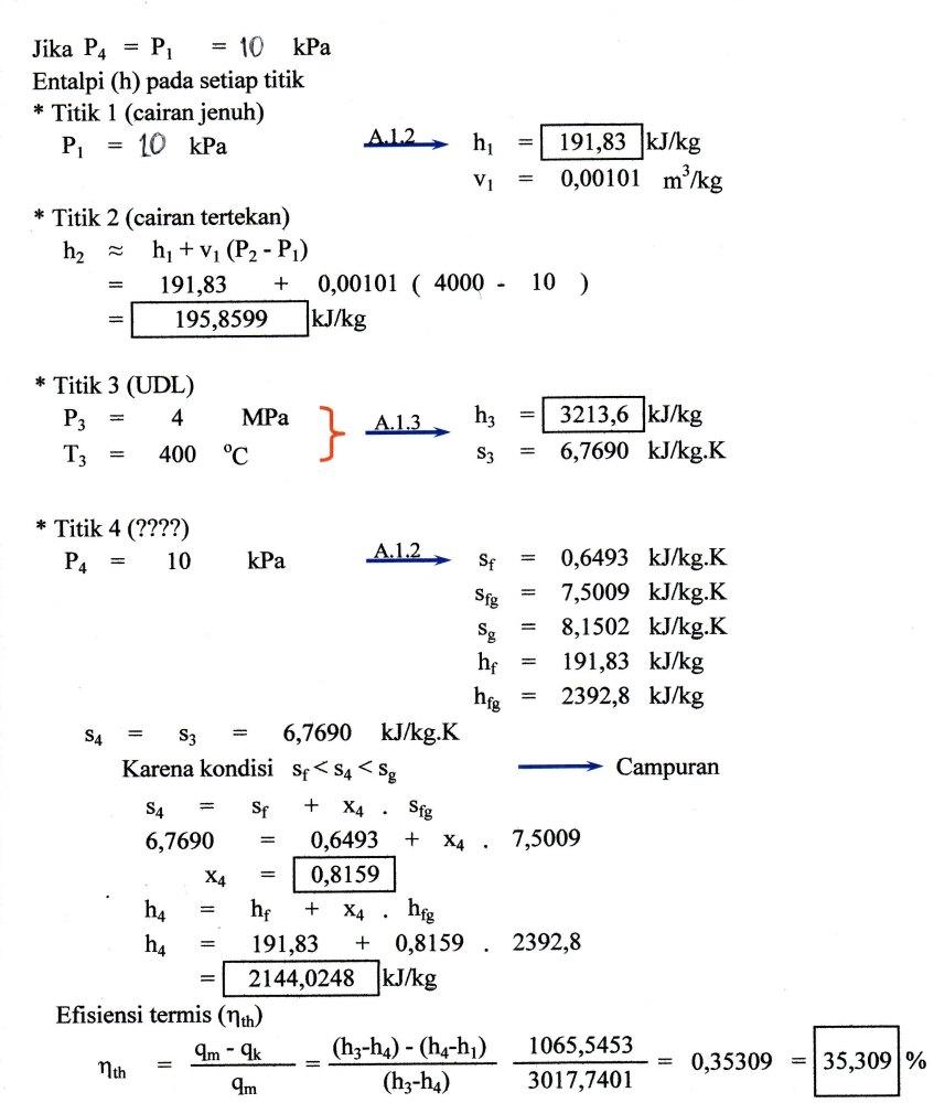 Penyelesaian Soal-soal Termodinamika Teknik  (2/5)