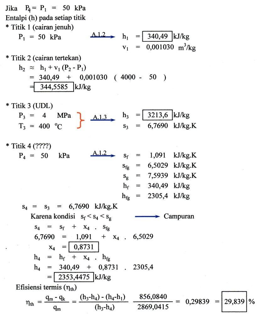 Penyelesaian Soal-soal Termodinamika Teknik  (3/5)