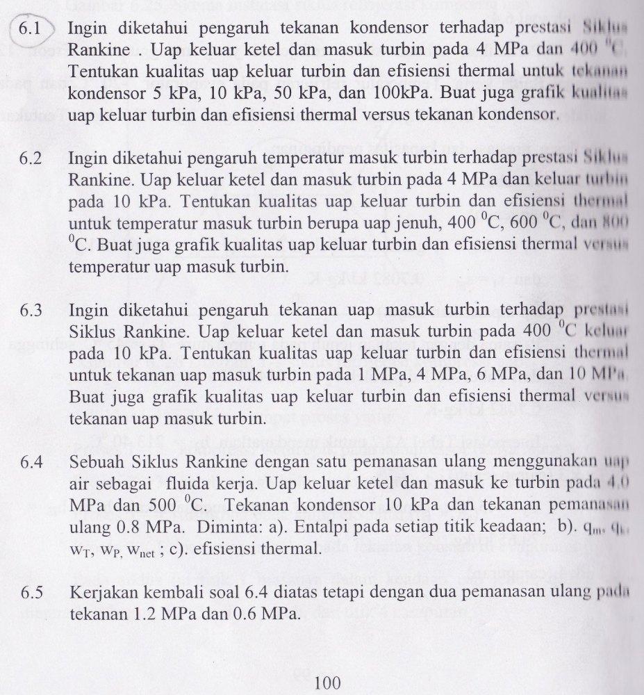 Penyelesaian Soal-Soal Siklus Rankine Lengkap (2/3)