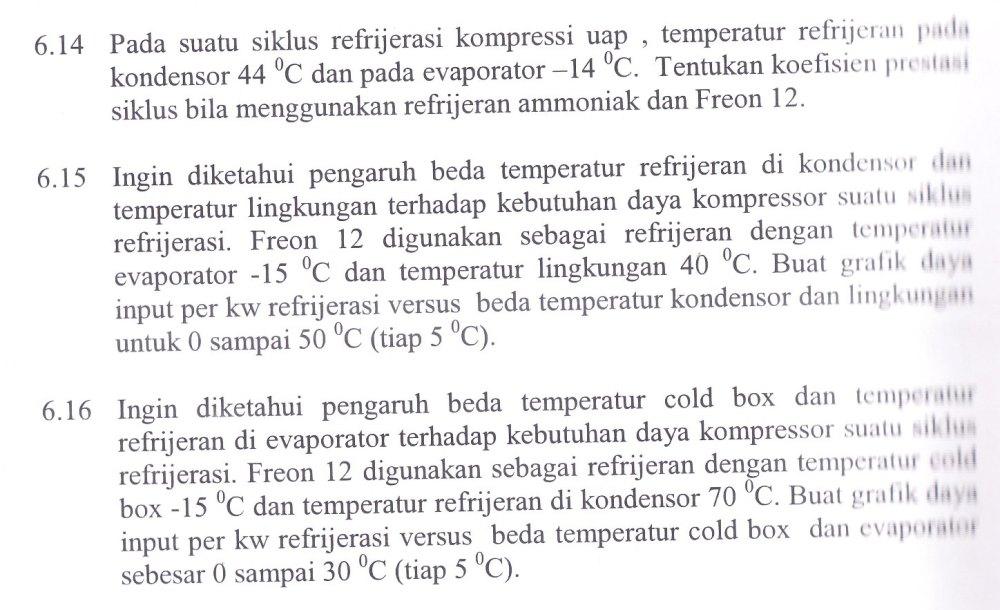 Termodinamika (Siklus Refrijerasi)