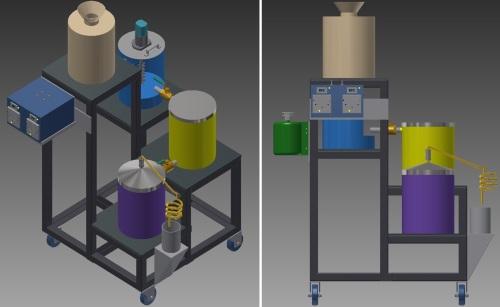 Bioethanol machine Isometric